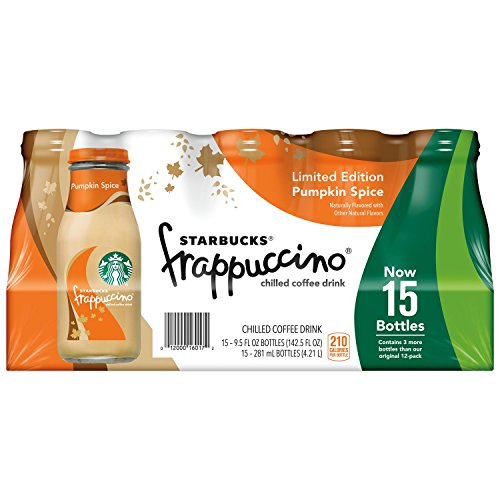 Starbucks Frappuccino Coffee Drink, Pumpkin Spice (9.5 oz., 15 pk.)