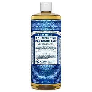 Dr. Bronner's Fair Trade & Organic Castile Liquid Soap - (Peppermint, 32 Fl Oz)