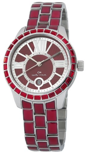 Carlo Monti Cosenza Women's Quartz Watch with Red Dial Analogue Display and Red Stainless Steel Bracelet CMZ01-144