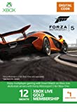 Xbox LIVE 12+1 Month Gold Membership: Forza 5 Branded [Online MembershipCode]