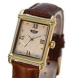 Eriksen Damen Classic rechteckig QUARZ Kleid Uhr mit Analog-Anzeige und