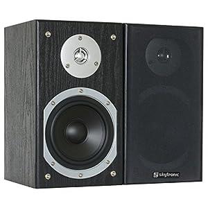 "Skytronic SHFB55B Passive HiFi Bookshelf Speaker Pair (2x140W, 5"" Woofer, Optimal Bass Development) Black"