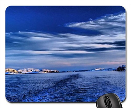 fantastic wake in a strait in winter Mouse Pad, Mousepad (Winter Mouse Pad)