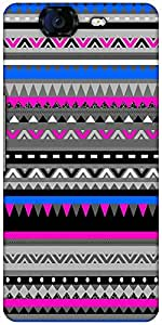 Snoogg Aztec Digital Pattern Designer Protective Back Case Cover For Micromax...