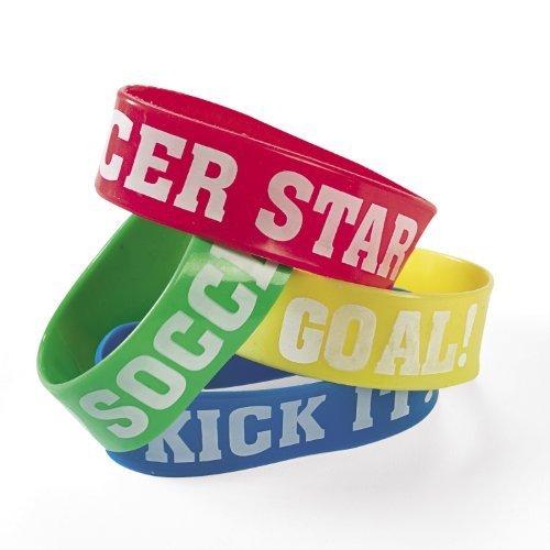Silicone Soccer Big Band Bracelets (1 dz)