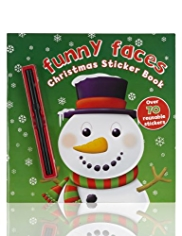 Funny Faces Christmas Sticker Book