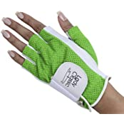 Lady Classic 1 2 Finger Golf Glove Green Large Left Hand By Lady Classic
