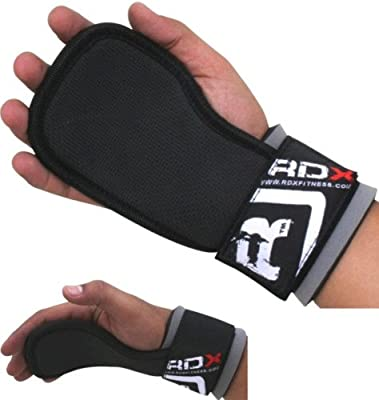 RDX Gel Weight Lifting Training Gym Grips Straps Gloves training gloves from RDX