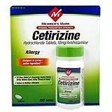 Members Mark Cetirizine Allergy, Tablets, 350-Count ~ Members Mark