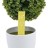 Generic 100pcs Plastic Garden Plant Seed Labels Nursery Stake Tags Pot Marker Nursery Garden Stake Tags Cute Garden...