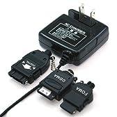 RIX AC充電器/マルチコネクター Docomo/SoftBank/TU-KA/AU/FOMA対応 (ブラック) RX-JUA955PAF