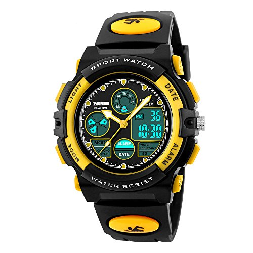 Jelercy Multi Function Digital Watch LED Quartz Water Resistant Electronic Sport Watches for Boys (Boys Sports)