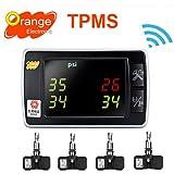 Orange Original P409s Tpms Monitor Tire Pressure Kit & Temperature Standard Valve 4 Sensors