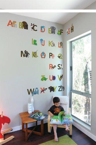 Animals Alphabetized Re-Stick Wall Decals
