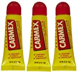 Carmex - Lip Moisturizing Tube, Original Balm 0.35 OZ (3 Each)