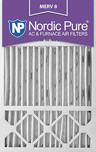 16x25x5HM8-2 Honeywell Replacement MERV 8 AC Furnace Air Filter, QTY 2