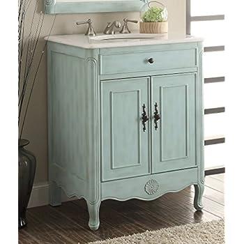 """26"""" Cottage Style Pastel Light Blue Daleville Bathroom Sink Vanity - Model # 838LB"""