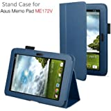 Exact PU Leather Case Cover With Stand for ASUS MeMO Pad ME172V 7-Inch Android Tablet Blue