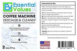 Keurig Descaler, Universal Descaling Solution For Keurig, Delonghi, Nespresso And All Single Use, Coffee Pot & Espresso Machines By Essential Values ... by Essential Values