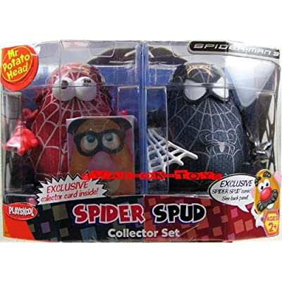 SPIDERMAN 3 – Spider-Man – Collector 2Pack (rot & schwarz) – SPIDER SPUD Potato Head – incl. Exclusiver Collector Card & Exclusivem SpiderSpud Comic – incl. Peter Parker Teile – PLAYSKOOL jetzt kaufen