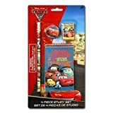 Disney Cars 2 4pk Study Kit on Blister Card - Pencil, Pencil Sharpener, Eraser, Memo Pads