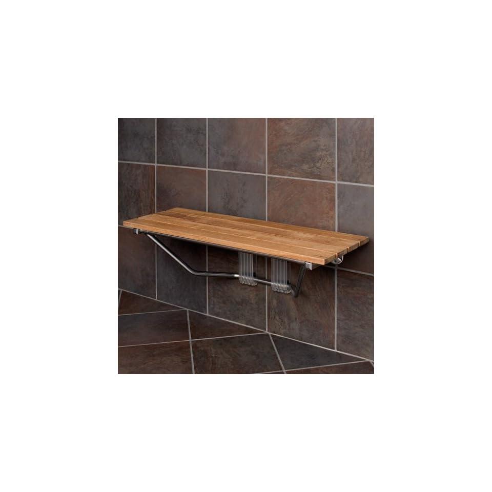 36 Folding Teak Wood Shower Seat