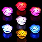 LED Rose Light , Multi Color For Garden, Lawn, Supply,Maintenance, Wedding and Party-6 In A Package