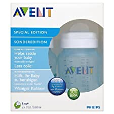 Avent 9 oz PP Blue Bottle 2 par paquet