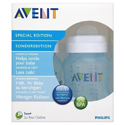 Avent 9 oz PP Blue Bottle 2 par paquet