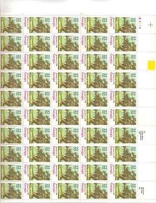 Georgia Sheet of 50 x 22 Cent US Postage Stamps NEW Scot 2339