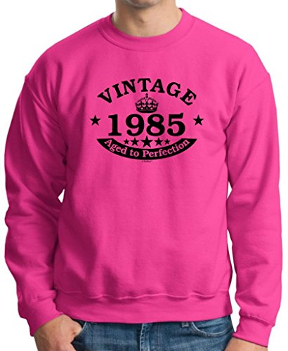 30Th Birthday Gift Vintage 1985 Perfection Crown Crewneck Sweatshirt 3Xl Heliconia