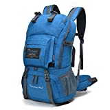 Mountaintop Outdoor Waterproof Hiking Climbing School Backpacks Blue