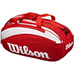 Wilson Classic Red/White 6 Racket Bag...