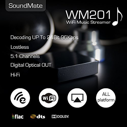 Ieast Soundmate Wm201 Mini Hi-fi Wireless Wi-fi Music Streamer Dlna Airplay Ezcast APP Am8253 for Smart Phones Tablet Pc (Flac Streamer compare prices)