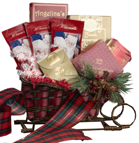 Art of Appreciation Gift Baskets    Christmas Holiday Sleigh Basket
