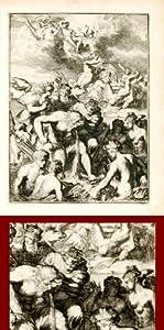 ANTIQUE PRINT-RIVER GOD - Antonides van der Goes - 1705