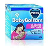 Vicks Vaporub Baby Balsam Soothing Baby Care Essential Oil For Comfort 50 g.