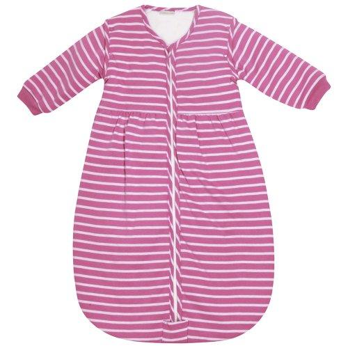 JoJo Maman Bebe Baby Cosy Sleeping Bag, Fuchsia Pink Stripe, 0-6 Months
