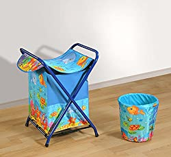 Swayam Fillz Printed Cotton Kids Laundry Bag with Lid - Multicolor (LB7-141)