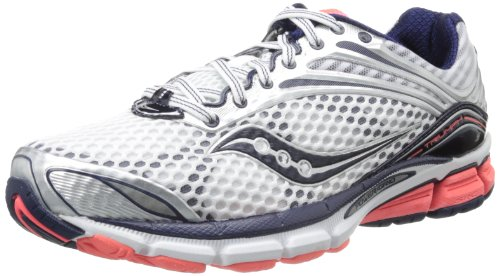 Saucony Women's Triumph 11 Running Shoe,White/Vizicoral/Navy,8.5 M US Saucony B00D45PD7S