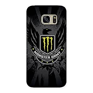Delighted Army M Multicolor Back Case Cover for Galaxy S7