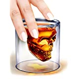 Doomed Skull Shot Glass Use Upside Down With Whiskey Vodka Party Gift