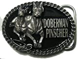 Doberman Pinscher Dog Belt Buckle + display stand