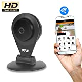 Pyle PIPCAMHD22BK HD 720p Wireless Remote Surveillance Camera with Built-in Speaker & Microphone, Black