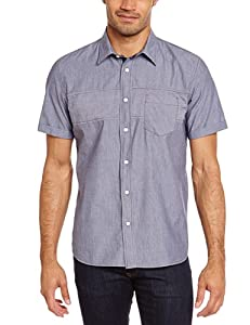 Oxbow Iluric Chemise manches courtes Homme Marine FR : L (Taille Fabricant : L)