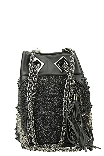 LA CARRIE BAG Borsa Night Edition Secchiello Ecopelle Nero Art 162-S 159 A16