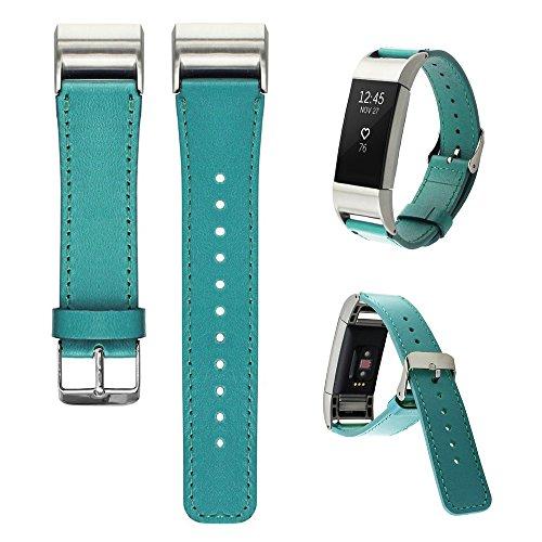 GoBuy®-Cinturino in vera pelle Bracciale braccialetto elastico di ricambio per Fitbit Alta, Mint Green
