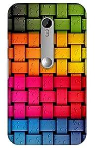 colorful Designer Printed Back Case Cover for Moto G 3rd Generation