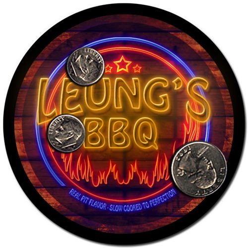 Leung'S Barbeque Drink Coasters - 4 Pack