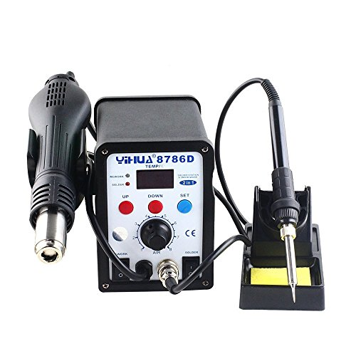 YiHUA 8786D 2in1 Soldering Rework Station Hot Air Gun Solder Iron Welder LCD Display (Solder Removal Station compare prices)